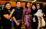 Talented designer Raffiey Nasir with Azlin Ali, Fiza O, Isadhora Mohamed and Nity Baizura...