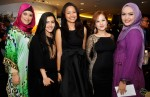 Beautiful ladies (from left): Amal (Ainon Talib's cousin), Malaque Mahdaly, Ateeqah Mazlan, Syaza Qistina Tan and Ainon Talib...