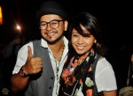 Izzat Yusoff and wife Esliza Razar enjoyed the movie given the thumbs up and smiles...