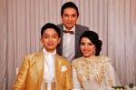 The newlyweds with Mr. Darren Choy, Managing Director and CEO of Warner Music Malaysia...