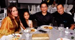 Shahrin Azhar, with wifey Gee Aziz, daughter Iman Qistina and Jeff Catz...
