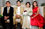 The newlyweds with Shenthy Feliziana and partner...