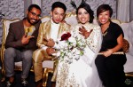 The newlyweds with Bloco SG's founder Syed Ahmad and wife Hanie Nadia...