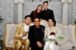 The newlyweds with Fauzie Laily, Nurul Huda and Dean Reziq, another hardworking personnel during the wedding event...