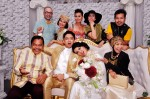 The newlyweds with Mr. J.A. Halim and his ever sporting family members...