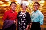 Fiza O being flanked by Raffiey Nasir and Fizi Azmi...