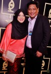 Mediacorp Eaglevision's Wan Firzaleenazrah and hubby Keatar H M...