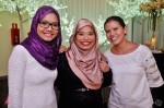 Mediacorp Suria's Siti Zalinah Adam being flanked by Shahida Sarhid and Nurmaya Alias...
