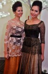 The trophy girls of the night, former RATU finalists, Wan Anisah and Shillah Marlysha...