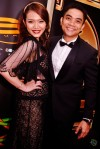 Newscaster Hazlina Halim and her dashing husband Amran Mat Dali...