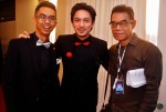 Iqram Dinzly seen here with Shahril Wahid and Mediacorp Eaglevision's Samri Badi...