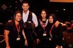 Adi Rahman and Aura Shai seen here with two of their working staff...