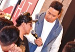 Roslan Shah being interviewed by DJ KC...
