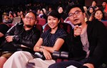 Award-winning director of PaPahan Films, M. Raihan Halim with his acting muse Adlina Adil and wobby host Dyn Norahim...