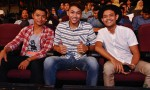 Supporting their fellow contestants: Yamin Yusof, Farid Azhar and Zaidi Zailee...