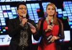 Hosts Shah Iskandar and Huda Ali...