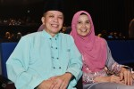 Loving couple Jasmani Basri and Poziah Hassan...