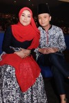 Fauzie Laily and his missus, Nurul Huda...