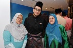 Former broadcast journalist Riz Sunawan came with his mother Madam Jamaliah Sujak (left) and an unidentified guest...