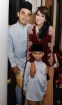 Nurul Aini with hubby Sofian Roslan and son, Shan Ehan...