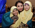 Farhana M. Noor goofing around with her ardent fans - my daughters...
