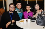 Danish Ashraf and Yaya Hamid seen here with celebrity stylist Rafil Kamaruddin and make-up artiste Zool Mimi...