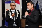 Dzar Ismail and Raja Razie doing hosting duties for Berita @ Mediacorp right after the Red Carpet event had ended...