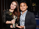 "A beaming Judah Lyne and Haikal Ali post-show after their song ""Bertemu Kembali"" snagged the Best Singapore Song award..."