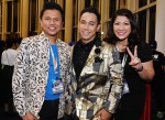 Malaysian award-winning songwriter Shah Shamshiri, Sufi Rashid and Ms. Viva Shaik, a friend of the former...