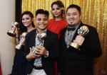 Artistes from Paranormal Talents: Ayda Jebat, Haikal Ali and Aisyaah Aziz along with the company's Head, Melakaboy...