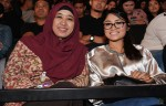 Managing Director of S.Ria Productions, Ms. Sabariah Hirma and her new talent, Khirah, who was in the Top 51 of Anugerah 2017...