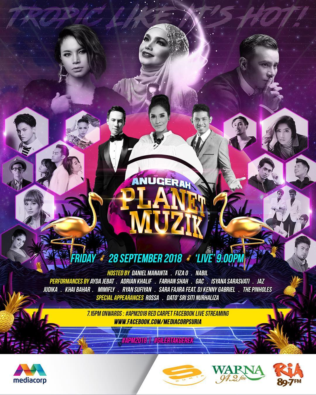 Anugerah Planet Muzik 2018 Roll-of-Honour